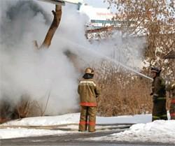 Пожар в Клину